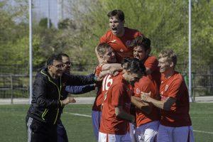 FCB celebrate Dom's winner against Bar Castilla's